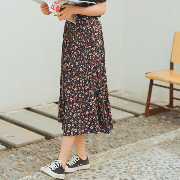 chân váy chữ a họa tiết hoa nhí