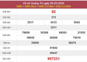 Nhận định XSQT ngày 12/3/2020 - KQXS Quảng Trị hôm nay