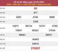 Thống kê XSDNG 24/6/2020 chốt KQXS Đà Nẵng thứ 4