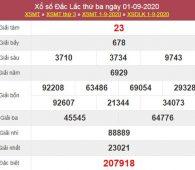 Thống kê XSDLK 8/9/2020 chốt lô VIP ĐăkLắc thứ 3